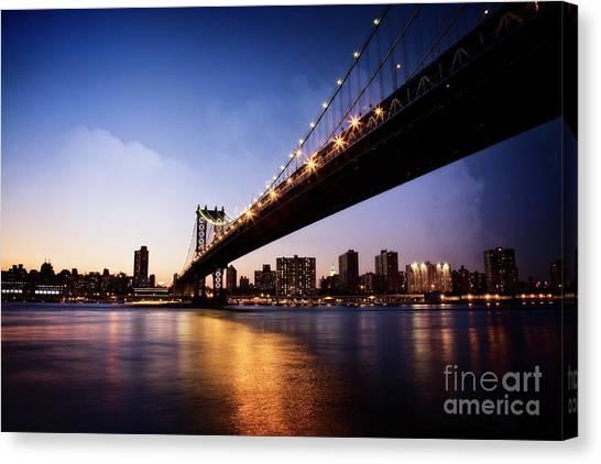 Canvas Print featuring the photograph Manhattan Bridge by Scott Kemper