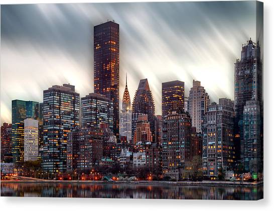 Chrysler Building Canvas Print - Manhattan Daze by Az Jackson