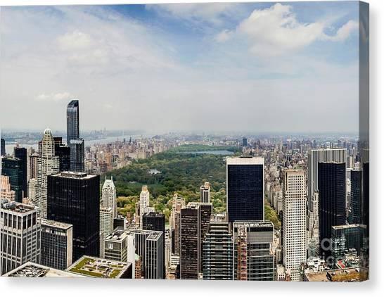 Empire State Building Canvas Print - Manhattan Haze by Az Jackson