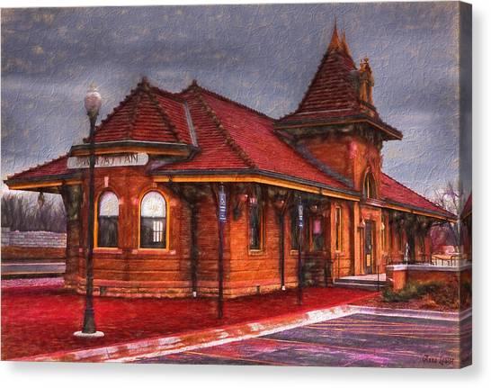 Manhattan Kansas Train Depot Canvas Print