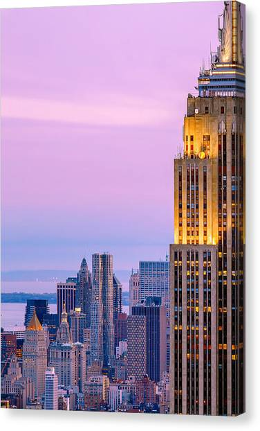 Sunsets Canvas Print - Manhattan Magic by Az Jackson