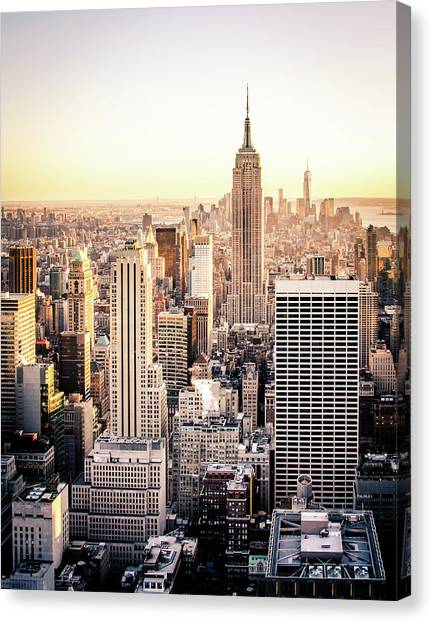 Empire State Building Canvas Print - Manhattan by Michael Weber