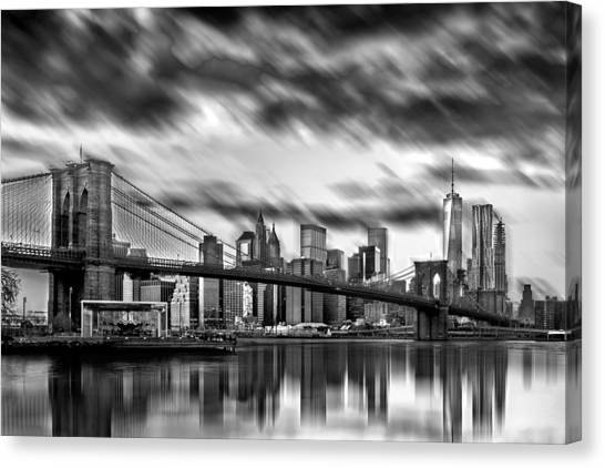 City Sunrises Canvas Print - Manhattan Moods by Az Jackson