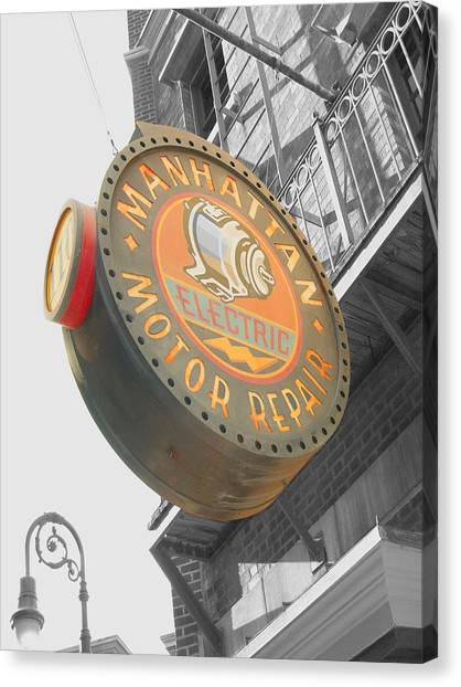 Manhattan Motor Canvas Print by Audrey Venute