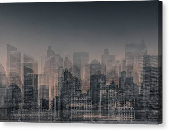 Manhattan Moves Canvas Print by Az Jackson