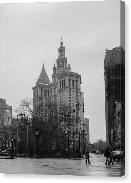 Ghostbusters Canvas Print - Manhattan Municipal Building by Erin Cadigan