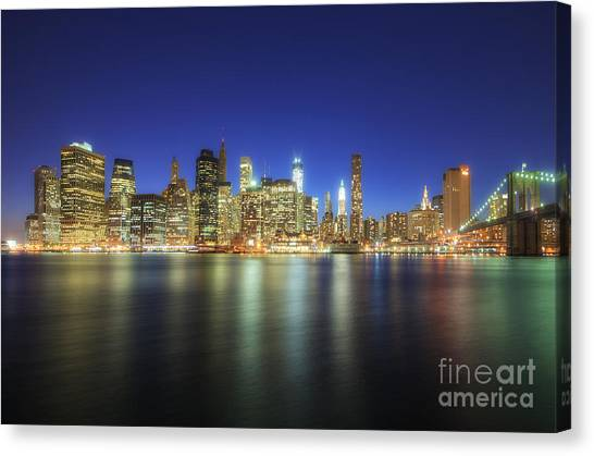 Manhattan Nite Lites Nyc Canvas Print