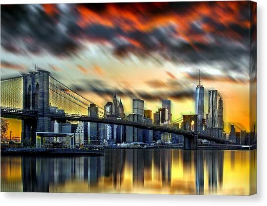 City Sunrises Canvas Print - Manhattan Passion by Az Jackson