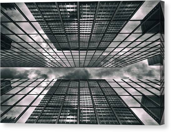 Dizzy Canvas Print - Manhattan Perspectives by Jessica Jenney