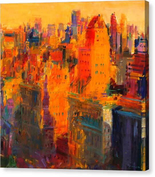 Manhattan Skyline Canvas Print - Manhattan by Peter Graham
