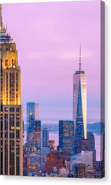 City Sunsets Canvas Print - Manhattan Romance by Az Jackson