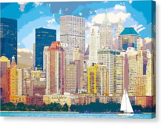 Manhattan Skyline New York City Canvas Print