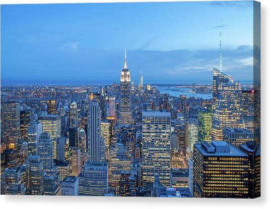 Symmetrical Canvas Print - Manhattan Skyline New York City by Az Jackson