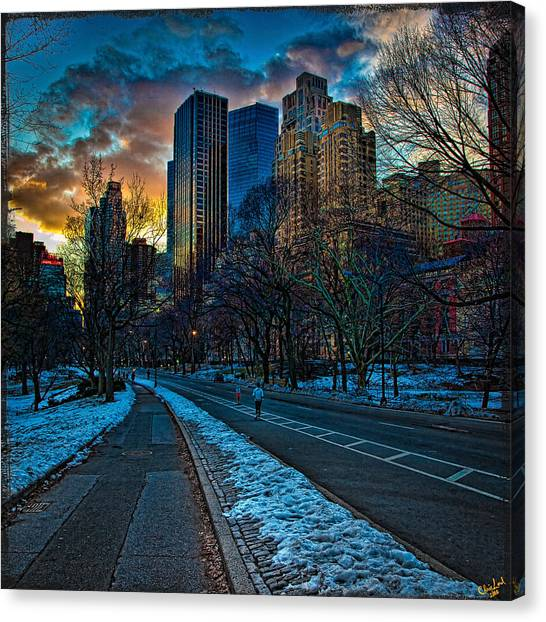 Warner Park Canvas Print - Manhattan Sunset by Chris Lord