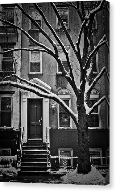 Manhattan Town House Canvas Print