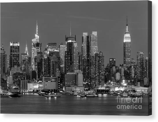 Empire Canvas Print - Manhattan Twilight Iv by Clarence Holmes