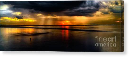 Beam Canvas Print - Manila Bay Sunset by Adrian Evans