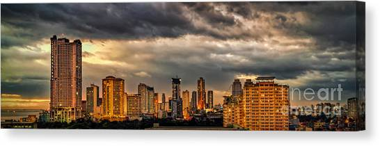 Mirages Canvas Print - Manila Cityscape by Adrian Evans