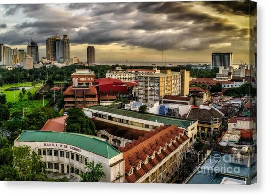 High School Canvas Print - Manila High School by Adrian Evans