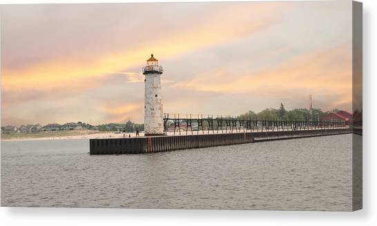Manistee North Pierhead Lighthouse Canvas Print