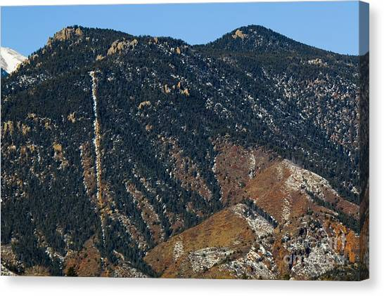 Manitou Incline Photographed From Red Rock Canyon Canvas Print