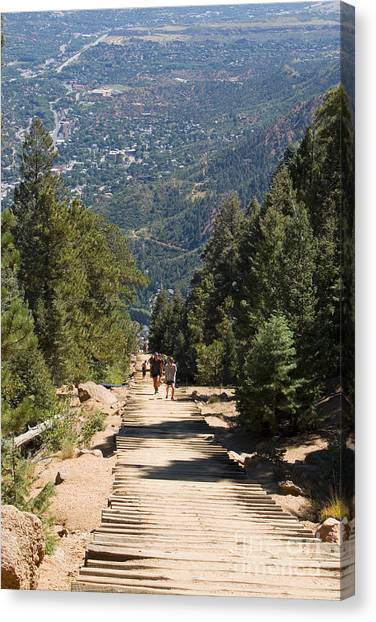 Manitou Springs Pikes Peak Incline Canvas Print
