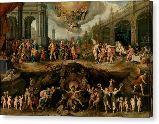 Baroque Art Canvas Print - Mankind's Eternal Dilemma, The Choice Between Virtue And Vice by Frans Francken the Younger