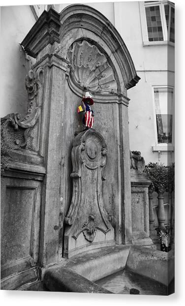 American Independance Canvas Print - Manneken Pis Fountain by Georgia Fowler