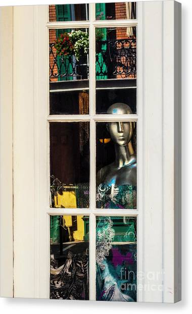 Mannequin Reflecting Canvas Print