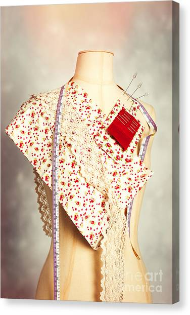 Dummies Canvas Print - Mannequin With Colour Swatches by Amanda Elwell