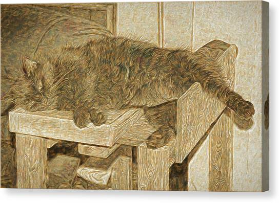 Mannie Is Relaxing Canvas Print
