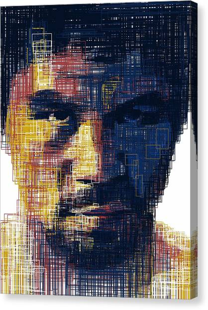Manny Pacquiao Canvas Print - Manny Flag by Harold Belarmino