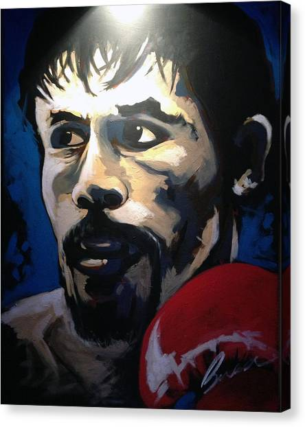 Manny Pacquiao Canvas Print - Manny Pacquiao - 2015 Speed Painting by Robert Busse