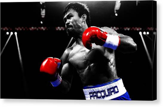 Manny Pacquiao Canvas Print - Manny Pacquiao Ready To Go by Brian Reaves