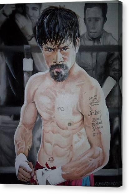 Manny Pacquiao Canvas Print - Manny Pacquiao by Reakeyford Pangilinan