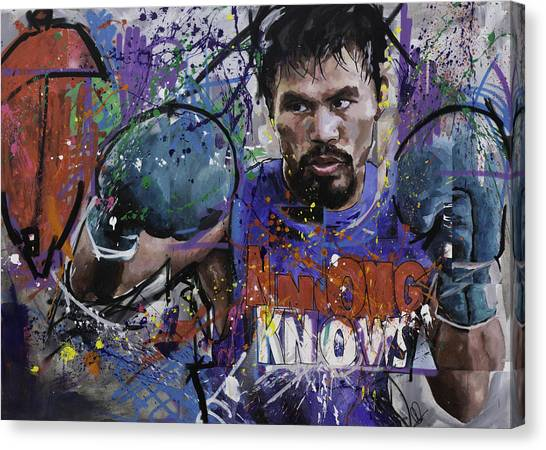 Manny Pacquiao Canvas Print - Manny Pacquiao by Richard Day