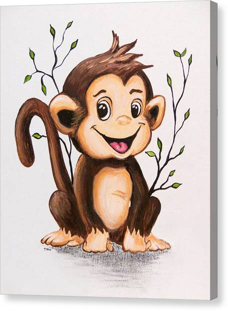 Manny The Monkey Canvas Print