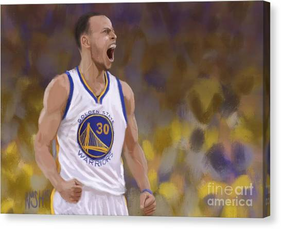 Three Pointer Canvas Print - Man's Game by Jeremy Nash