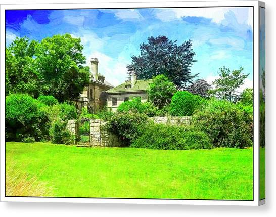 Mansion And Gardens At Harkness Park. Canvas Print