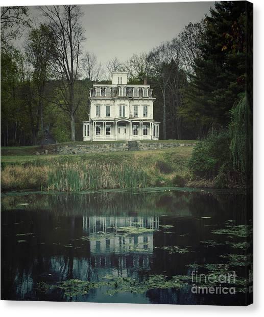 Mansion Reflected At Waterloo Canvas Print