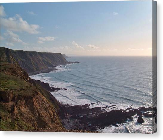 Mansley Cliff And Gull Rock From Longpeak Canvas Print