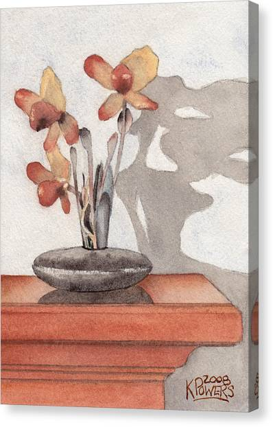 Mantel Flowers Canvas Print