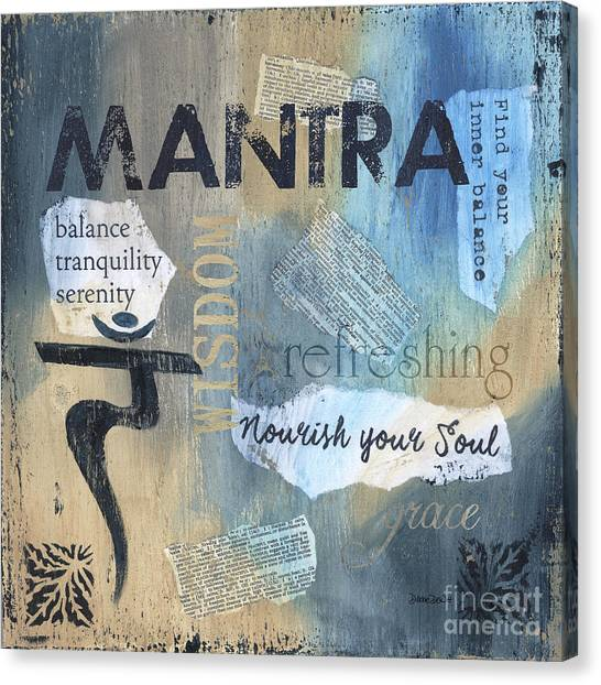 Yogi Canvas Print - Mantra by Debbie DeWitt