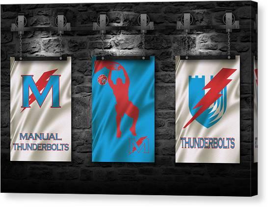 High School Canvas Print - Manual Thunderbolts 3 by Joe Hamilton