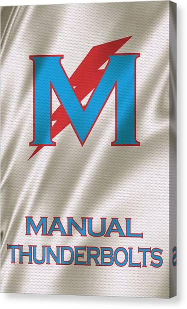 High School Canvas Print - Manual Thunderbolts 6 by Joe Hamilton