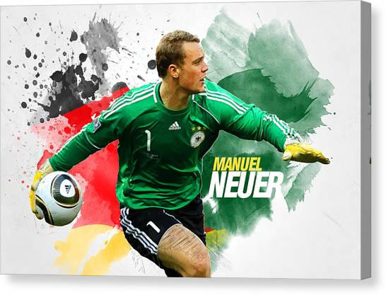 Mls Canvas Print - Manuel Neuer by Semih Yurdabak