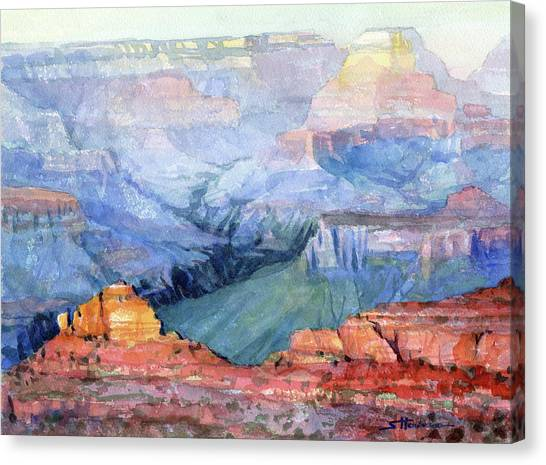 Grand Canyon Canvas Print - Many Hues by Steve Henderson
