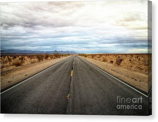 Many Miles Through Mojave Desert Canvas Print