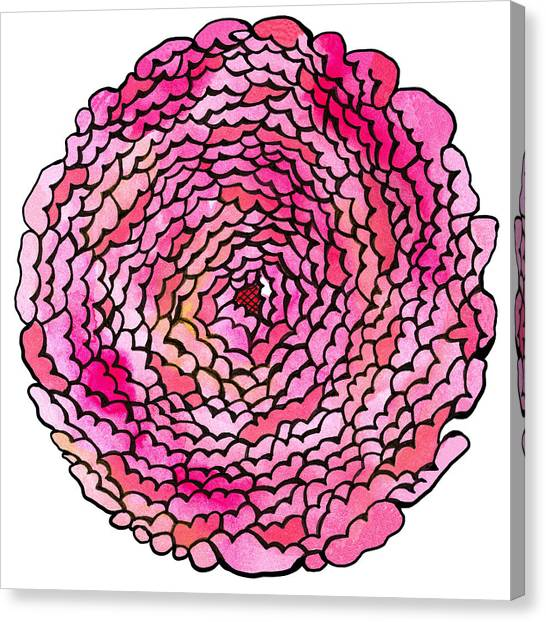 Many Petaled Flower Canvas Print