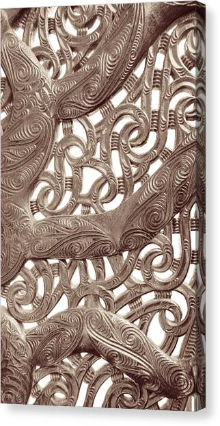 Canvas Print featuring the photograph Maori Abstract by Denise Bird